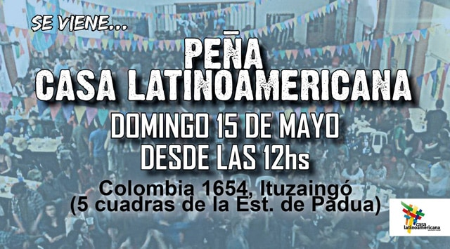 El domingo llega otra edición de la Peña Latinoamericana