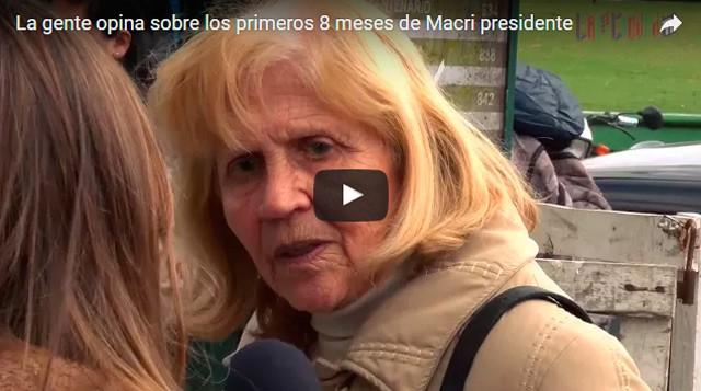 ¿Que opinan los vecinos de Ituzaingó sobre los primeros ocho meses de Macri?