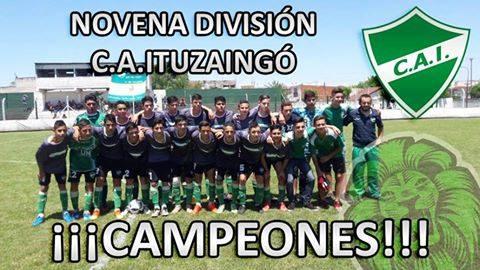 Ituzaingó grito campeón en 9° división