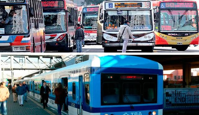 El lunes no habrá transporte público de pasajeros hasta el mediodía