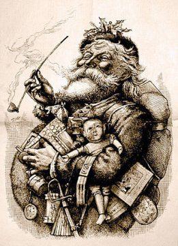Ilustración de 1881 por Thomas Nast.