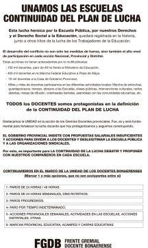 El Frente Gremial Docente consultará con los maestros el nuevo plan de lucha 3