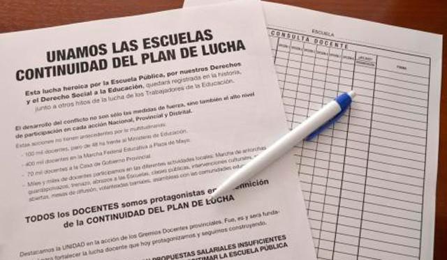 El Frente Gremial Docente consultará con los maestros el nuevo plan de lucha