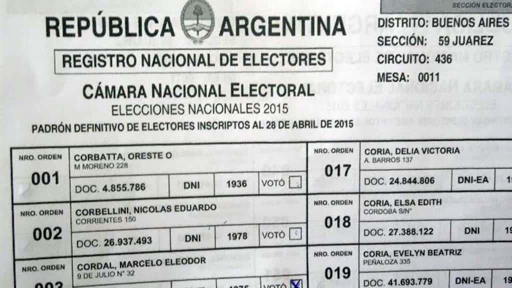 Ya se puede consultar el padrón para votar en las próximas elecciones