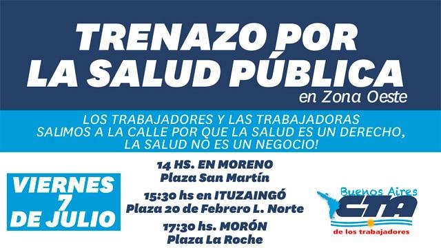 Mañana la CTA convoca a una marcha por el hospital de Ituzaingó