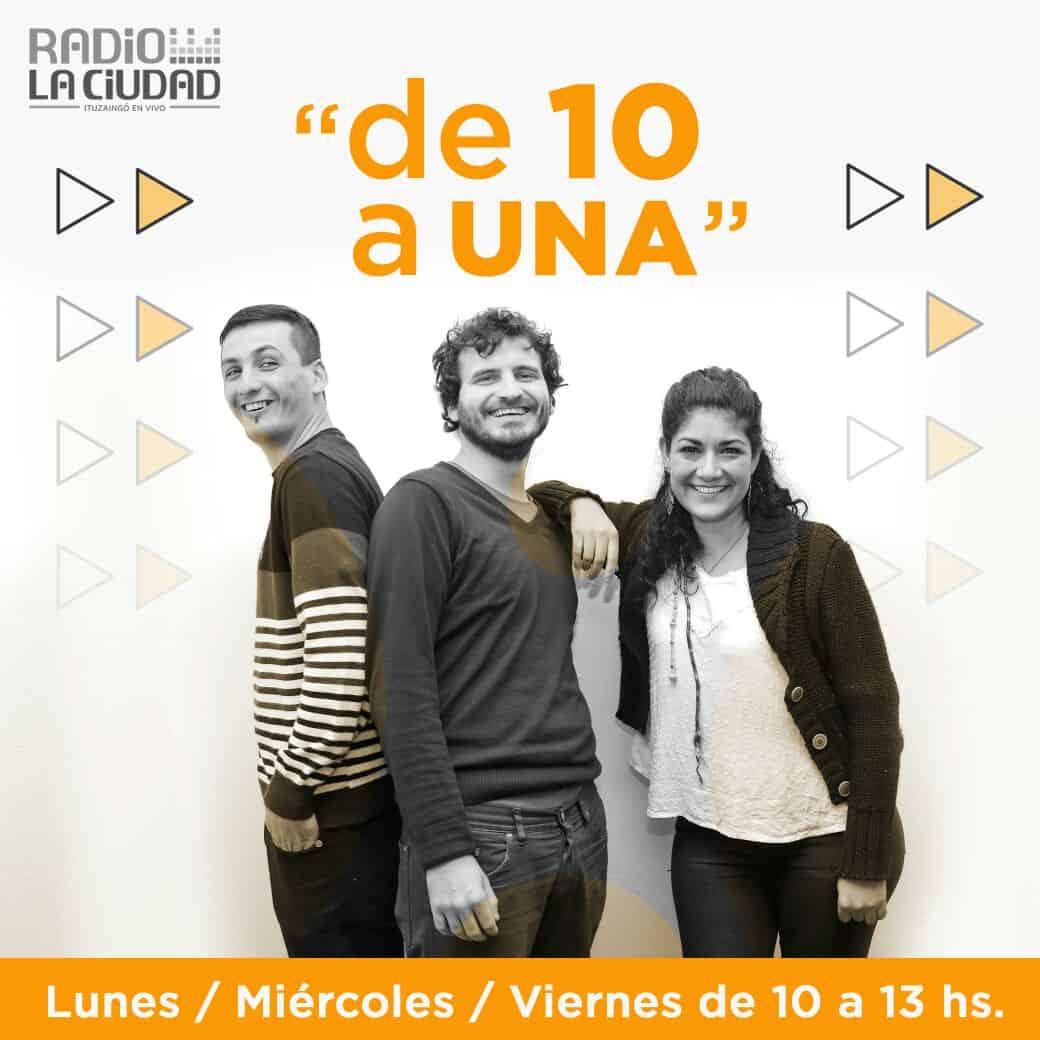 Este lunes dio inicio De 10 a UNA el primer magazine de Radio La Ciudad