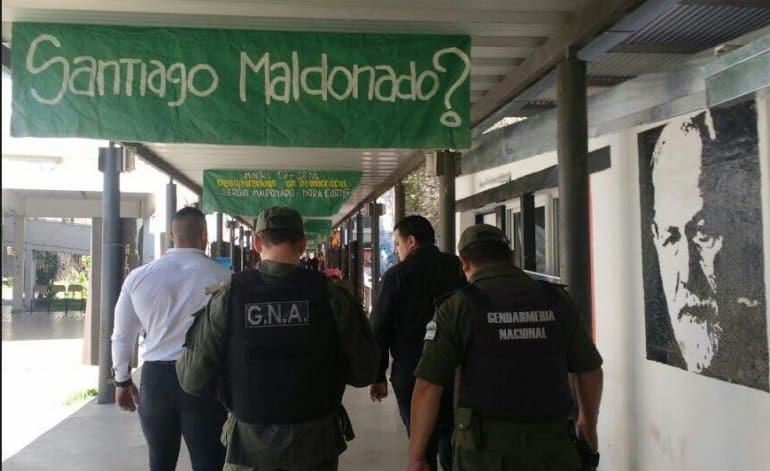 La Gendarmería entró sin autorización a un Centro Universitario en pleno acto por Maldonado
