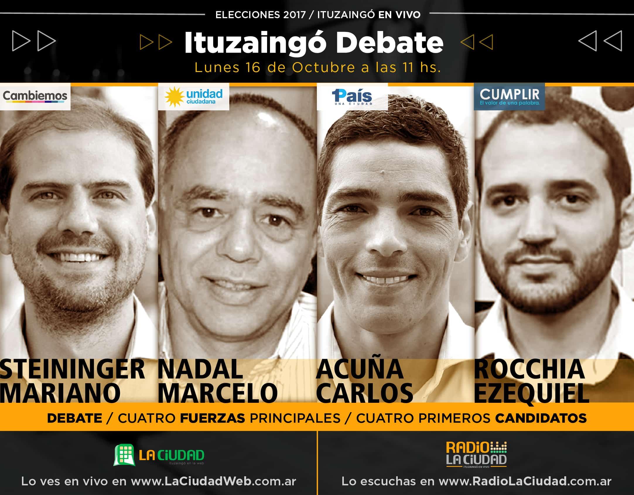 """El próximo lunes """"Ituzaingó Debate"""" por La Ciudad"""