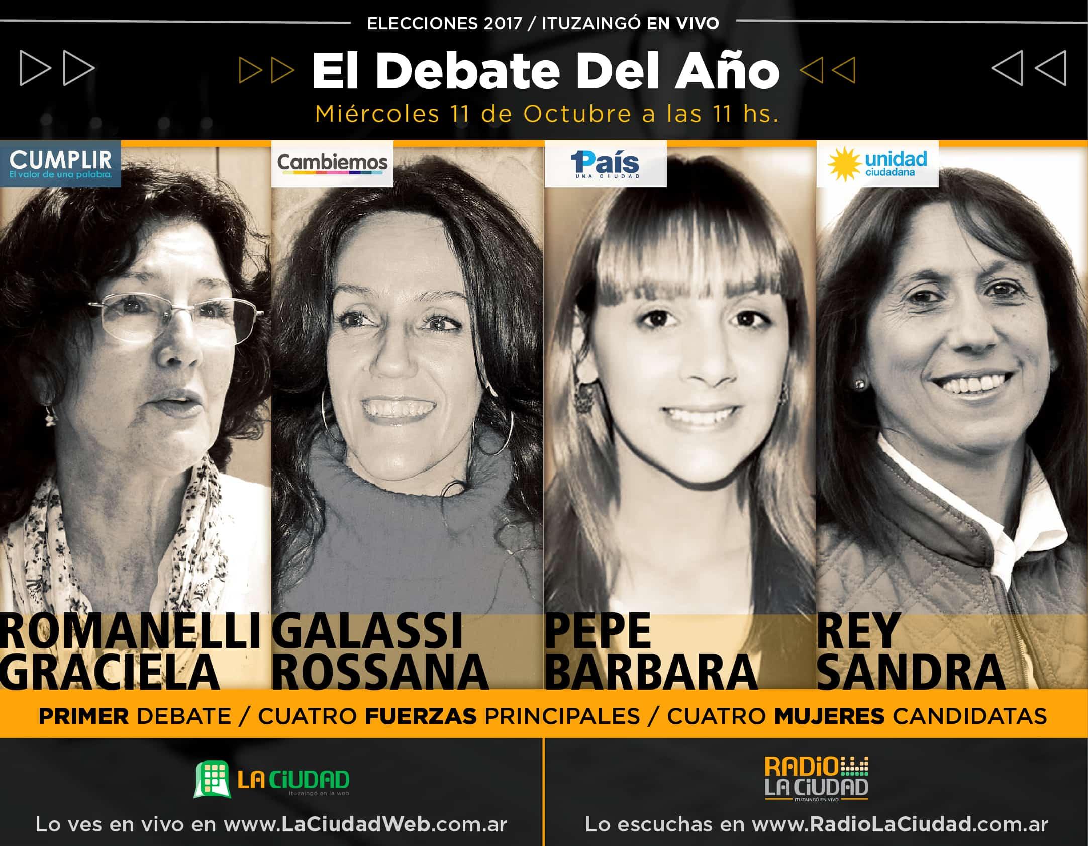 Un debate de candidatas mujeres que pone a Ituzaingó en el centro de la escena política