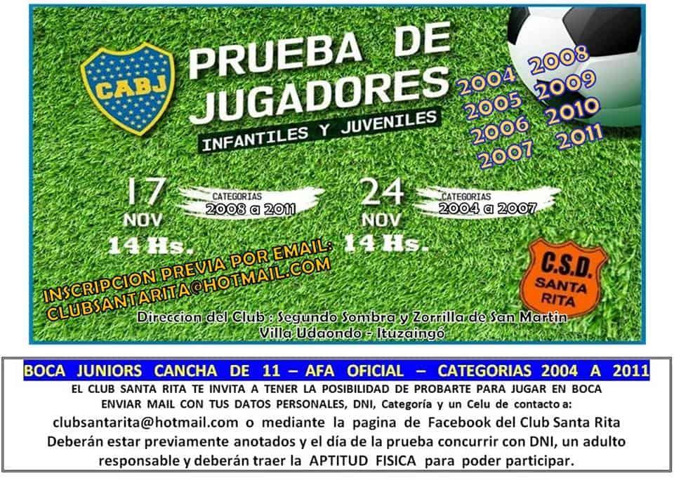 Boca Juniors probará jugadores en Villa Udaondo