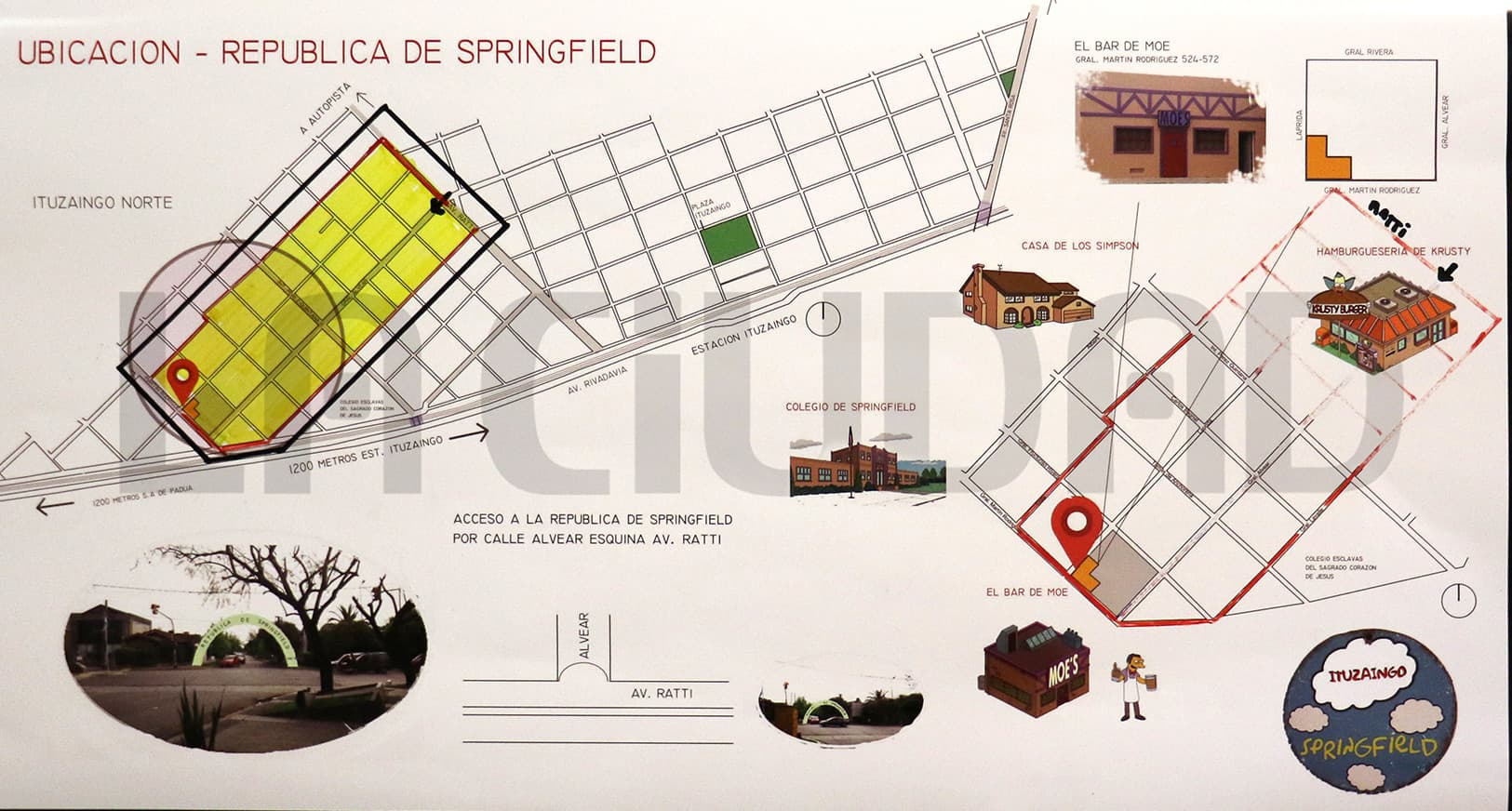 """La """"República de Springfield"""": Proponen crear en Ituzaingó una zona turística temática"""
