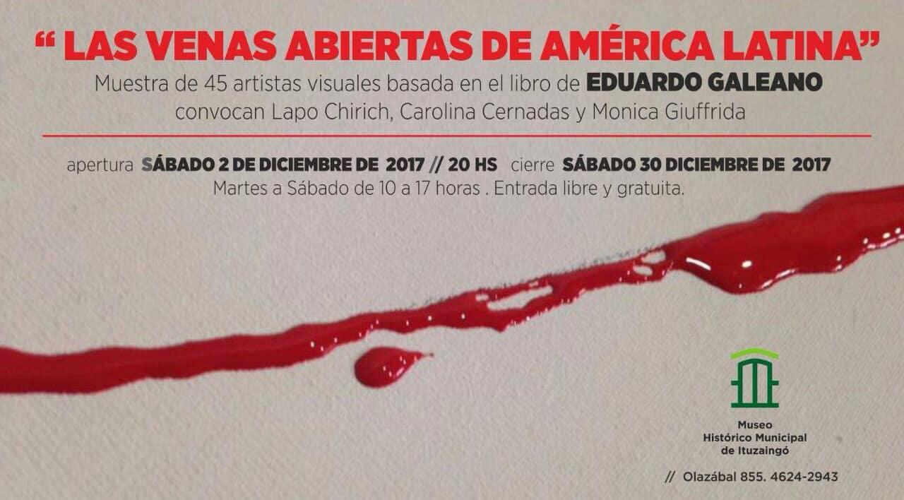 """Muestra plástica basada en el libro """"Las venas abiertas de América Latina"""" en Ituzaingó"""