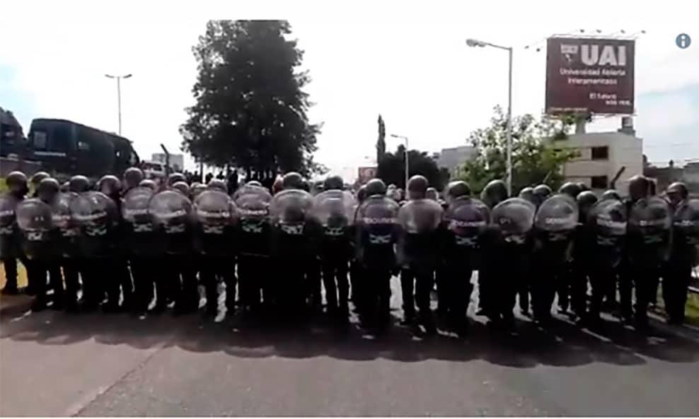 La Gendarmería se prepara para reprimir a los trabajadores del Hospital Posadas