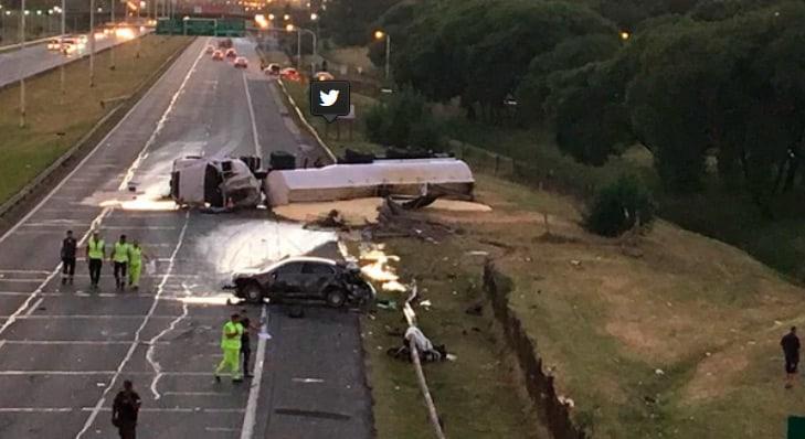 Ituzaingó: dos muertos tras un choque en la autopista del Oeste
