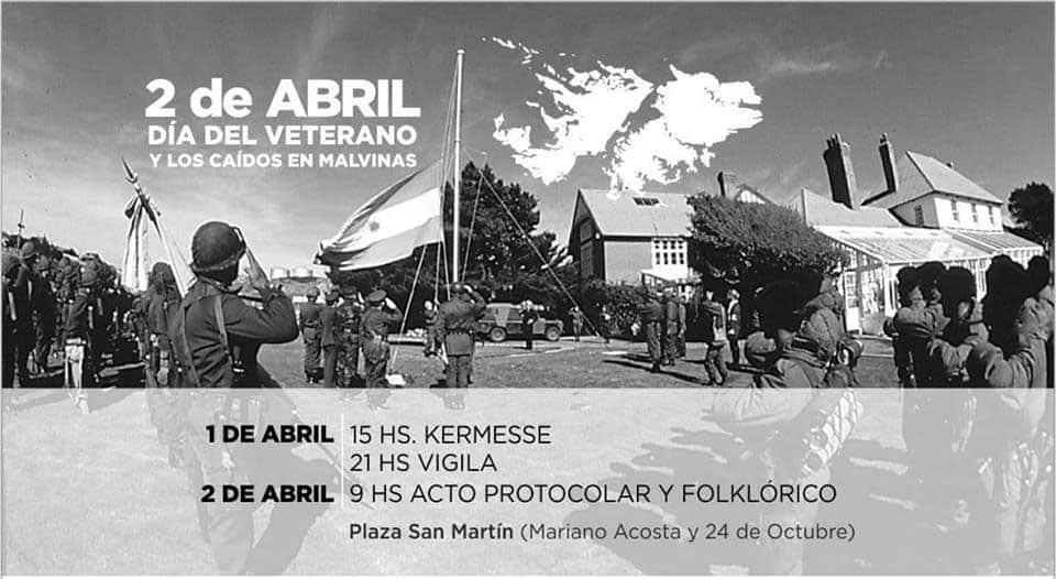 Se realizará una Vigilia y un acto en la Plaza San Martín a 36 años de la guerra de Malvinas