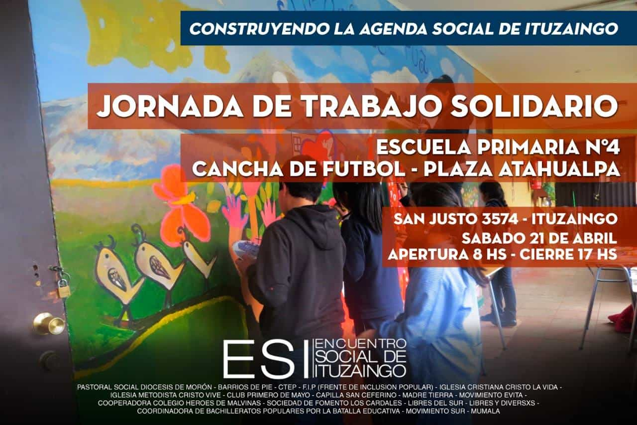 Jornada de Trabajo Solidario en la Escuela Primaria Nº 4 de Ituzaingó