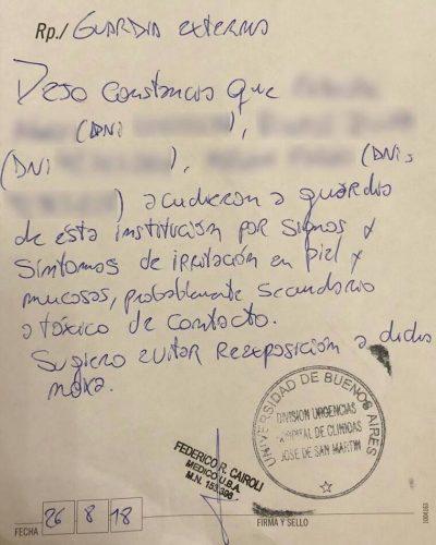 Grave: Un tóxico dejado en el departamento de Cristina intoxicó al personal de limpieza 1