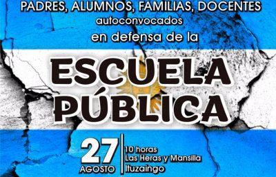 Ituzaingó: convocan a una marcha para reclamar los arreglos de las escuelas 2