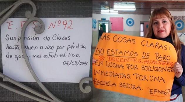 Ituzaingó: convocan a una marcha para reclamar los arreglos de las escuelas