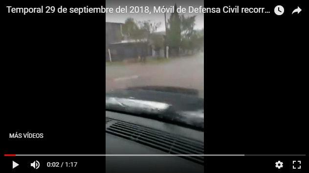 Fuerte temporal en Ituzaingó deja anegamientos y calles inundadas