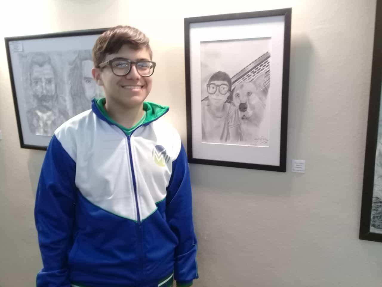 Juan Ignacio, el joven artista de Ituzaingó que recibió una mención en los Juegos Bonaerenses
