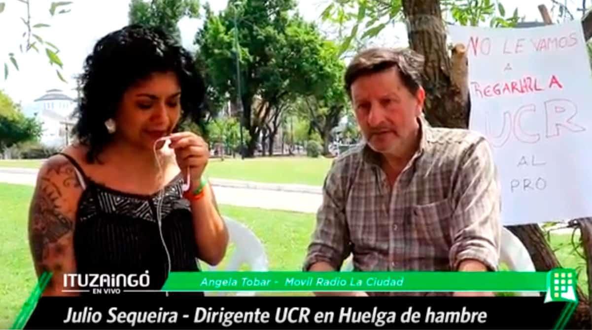 """Huelga de hambre en Ituzaingó: """" Hasta que no acepten mi lista voy a seguir con la huelga"""""""