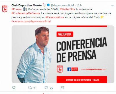 Deportivo Morón se quedó sin director técnico y suena Nardozza como reemplazo 2