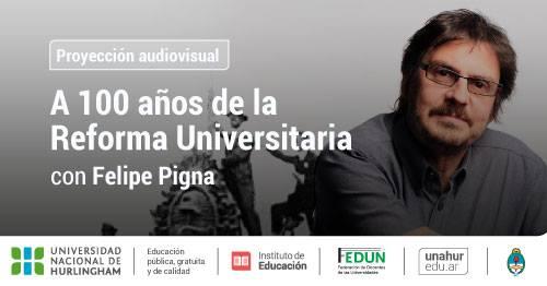 Felipe Pigna presenta un documental en la UNAHUR