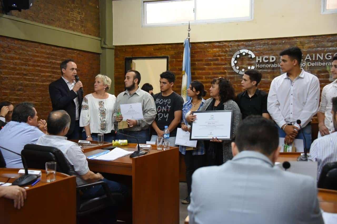 El Concejo Deliberante de Ituzaingó reconoce a los alumnos de la Técnica N°1