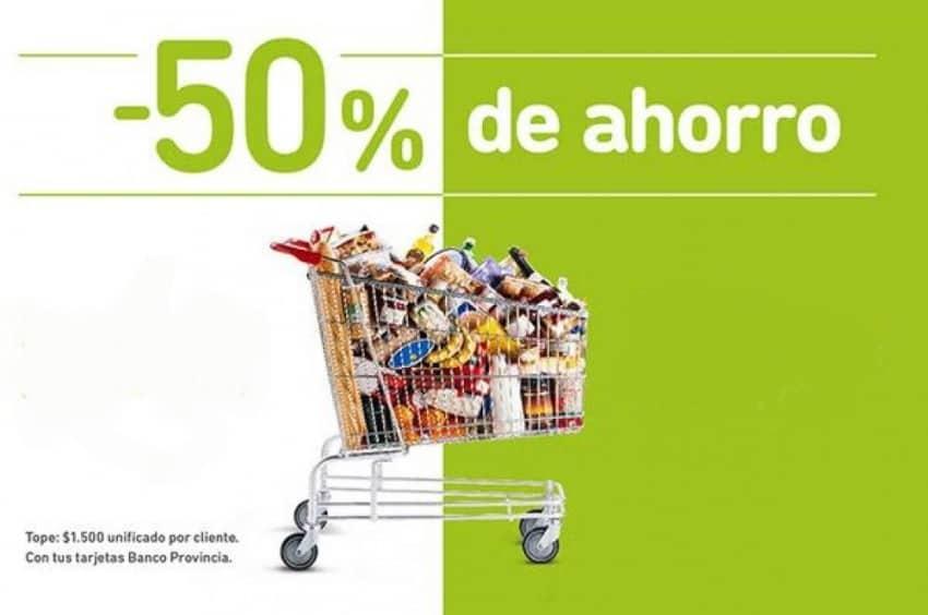 Hoy habrá descuentos del 50% en alimentos con tarjetas del Banco Provincia