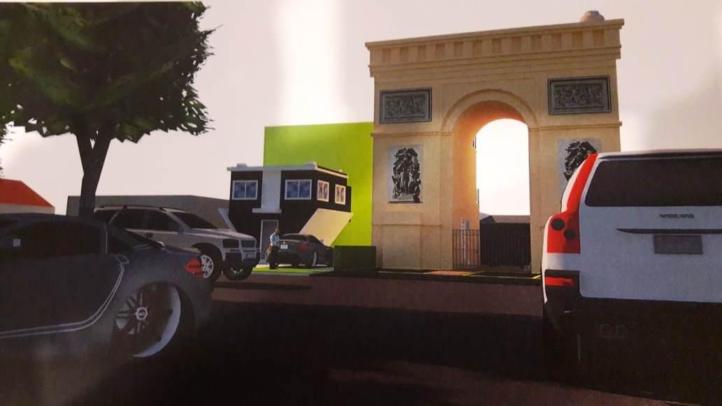 Una réplica del Arco del Triunfo en el Boulevard Fleming