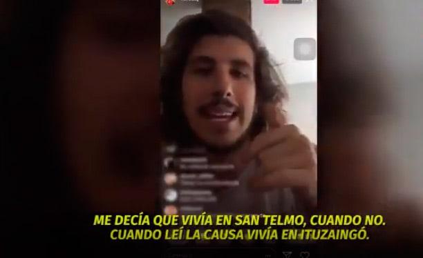 "Rodrigo Eguillor: "" Vive en Ituzaingó, o sea, una negra que me quería sacar toda la plata"""