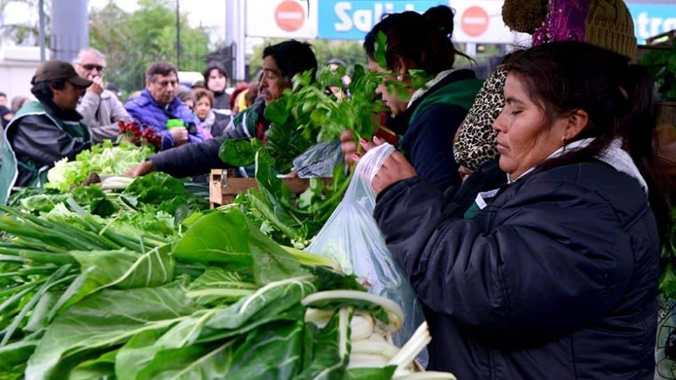 Verduras a precios populares en reclamo de la producción nacional y la agricultura familiar