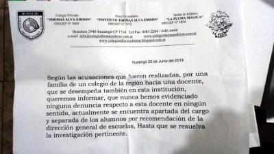 La maestra jardinera acusada de abuso en Morón también trabajaba en Ituzaingó 2