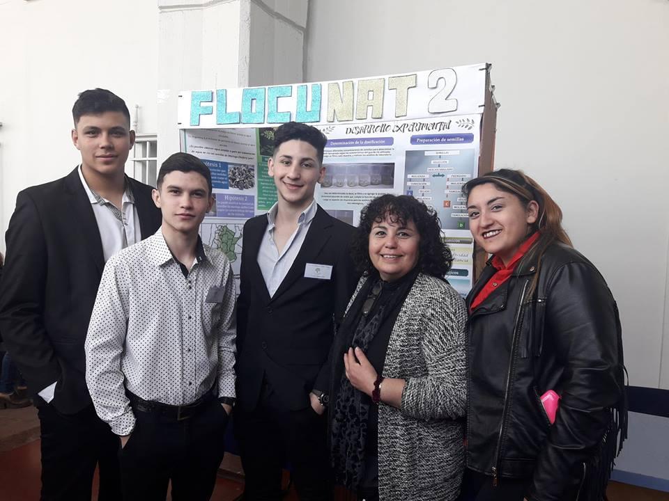 """Ituzaingó: Los alumnos de Técnica N°1 ya presentaron su proyecto """"Flocunat"""" en Suecia y mañana es la premiación"""
