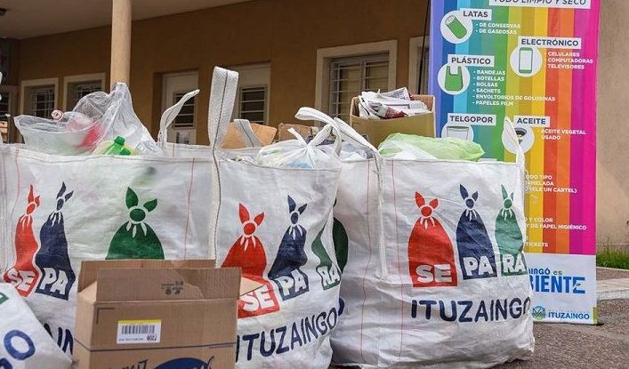 Ituzaingó SePaRa, una forma de reciclar y limpiar el barrio