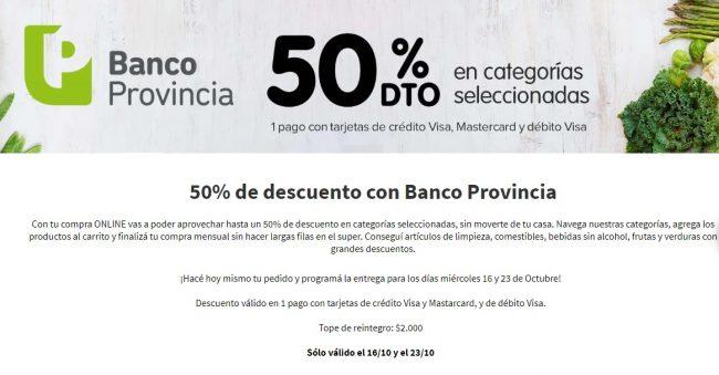 El próximo miércoles 16 vuelve el descuento del 50% con tarjetas del Banco Provincia 1