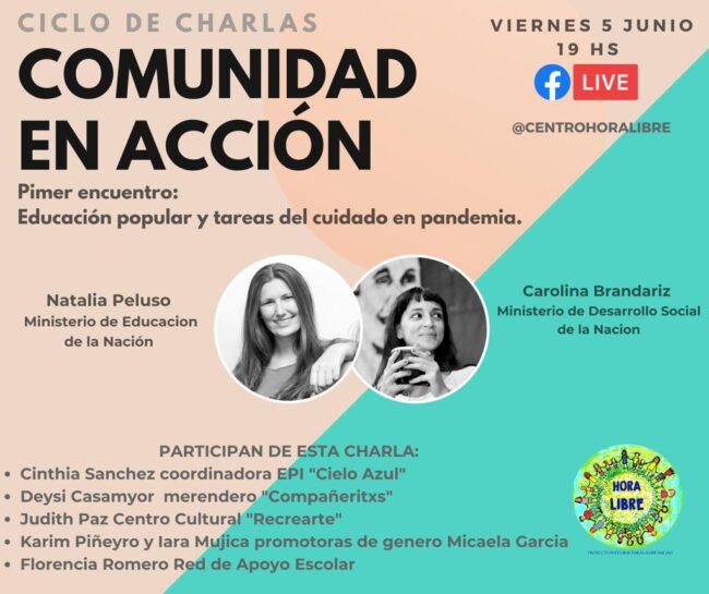 """Hoy inician charlas virtuales """"Comunidad de Acción"""" 1"""