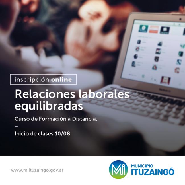 Ituzaingó: Abrió la inscripción para curso de 'relaciones laborales equilibradas' 1