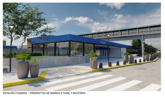 Como quedará la estación Ituzaingó después de la remodelación